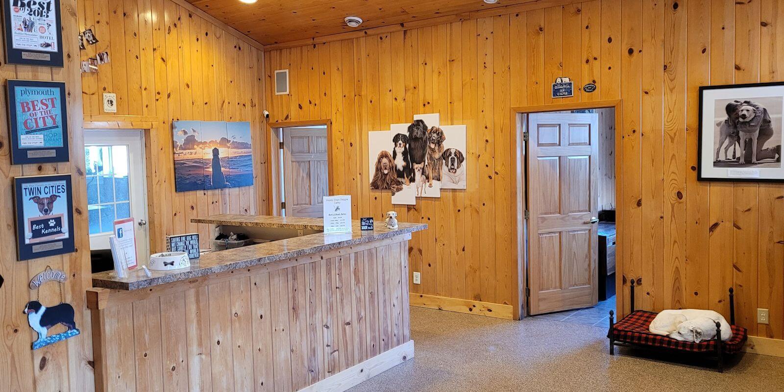 Happy Days Doggie Camp Lobby Area